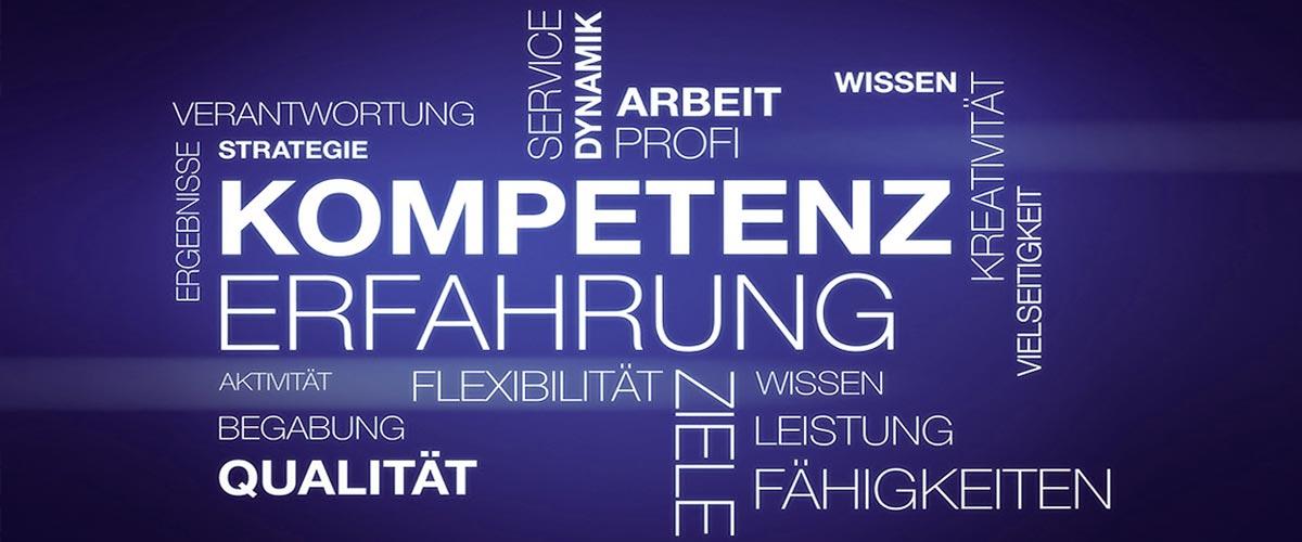 Leistungen, Kompetenz, Erfahrung, Ziele