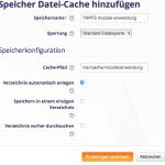 Moodle-tmpfs-Speicher -Anwendung